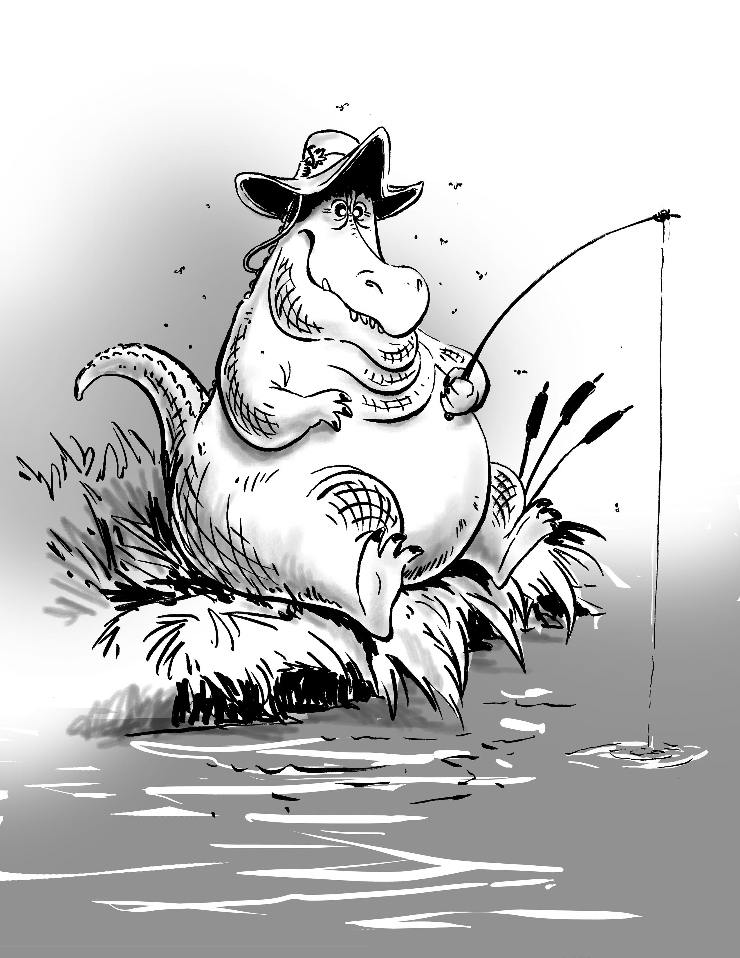alligator-fishing